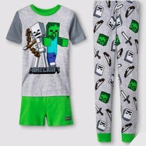 Minecraft 3 piece pajama set